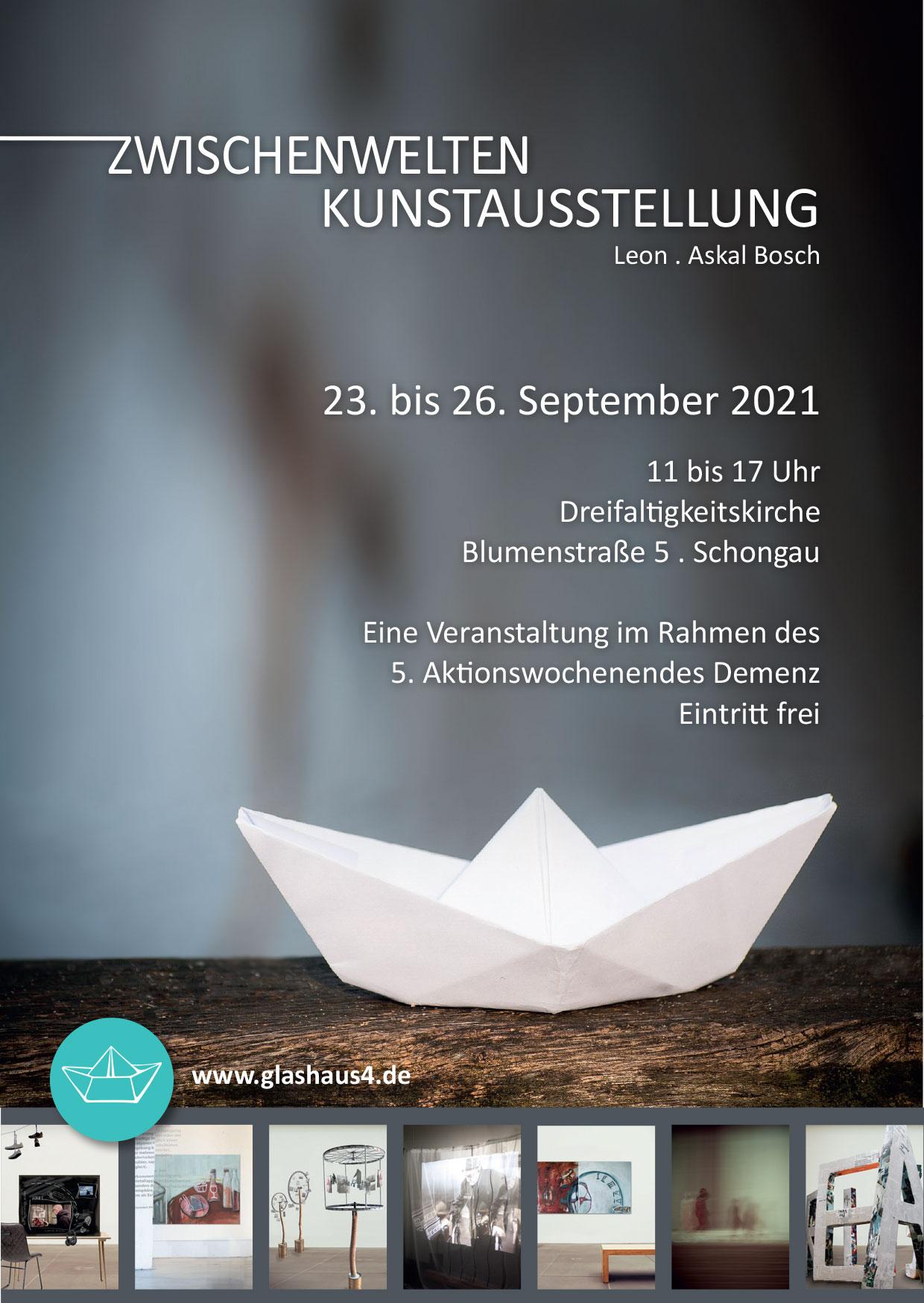 Flyer-Zwischenwelten-Kunstausstellung